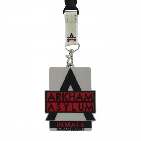 Arkham Asylum Logo Lanyard with Rubber ID Holder