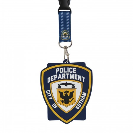 Batman GCPD Lanyard with Rubber ID Holder
