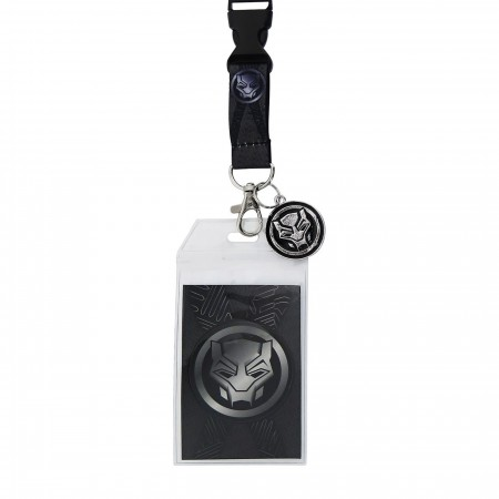 Black Panther Movie Symbol Lanyard with Charm