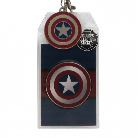 Captain America Suit-Up Lanyard with Metal Charm