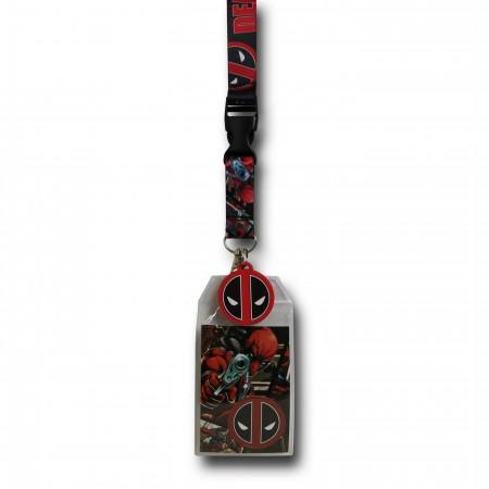 Deadpool Comic Image Lanyard