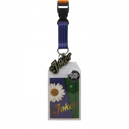 Joker Suit Up Lanyard with Metal Charm