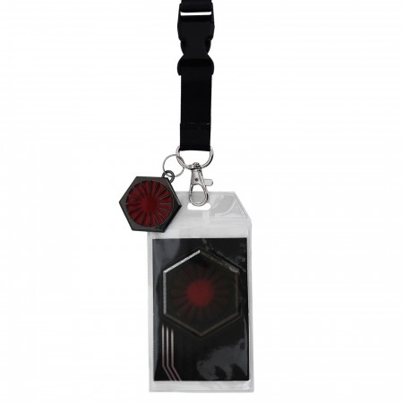 Star Wars Last Jedi First Order Lanyard with Charm