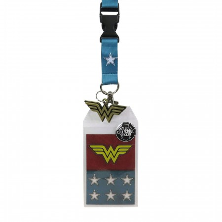 Wonder Woman Suit-Up Lanyard with Metal Charm