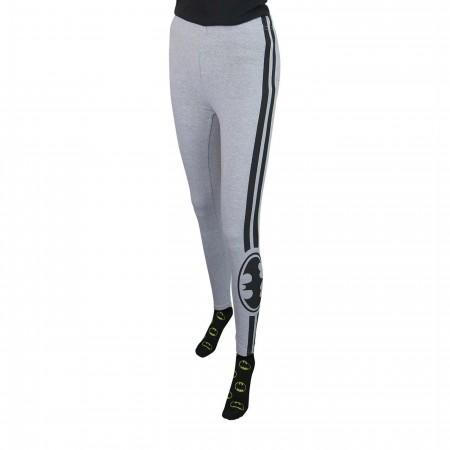 Batman Symbol Racer Stripes Women's Leggings