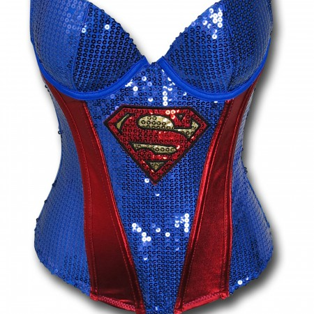 Supergirl Women's Sequin Corset