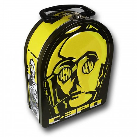 Star Wars C3PO Face Tin Lunch Box