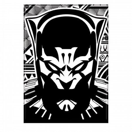 Black Panther Black & White Magnet