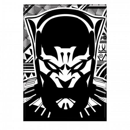 Black Panther Black & White Magnet