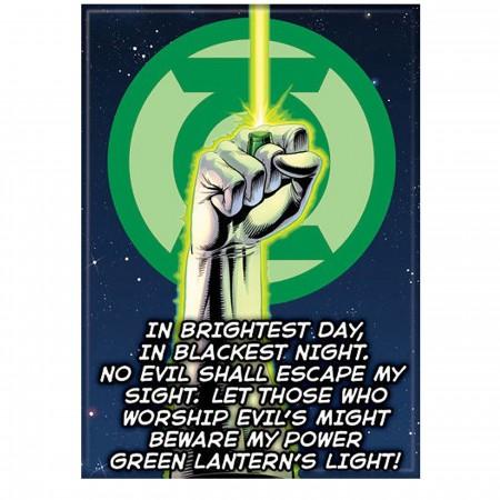 Green Lantern Oath Magnet