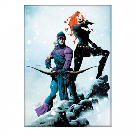 Hawkeye & Black Widow Winter Gathering Magnet