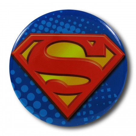 Superman Symbol Button Magnet Bottle Opener