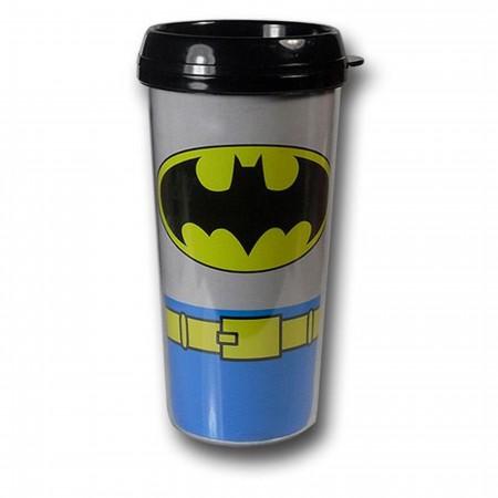Batman Costume Plastic Travel Mug