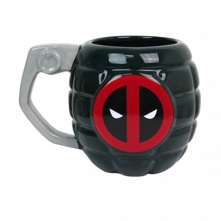 Deadpool Grenade Sculpted 15oz Mug