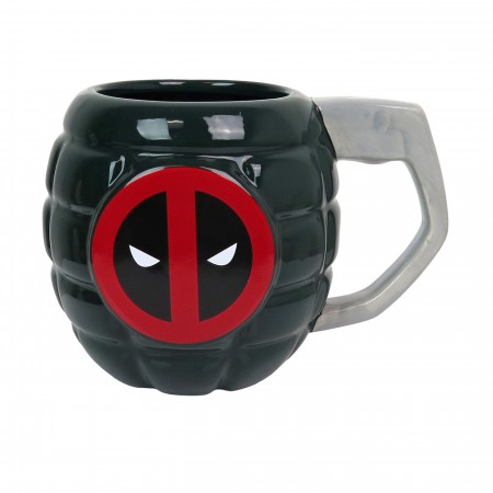 Deadpool Grenade Sculpted 15oz Mug