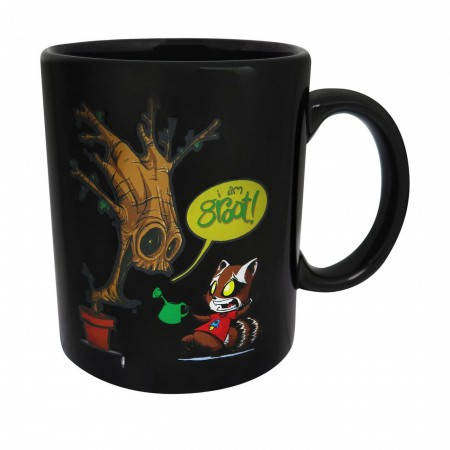 GOTG Rocket Raccoon and Groot Heat Changing Mug