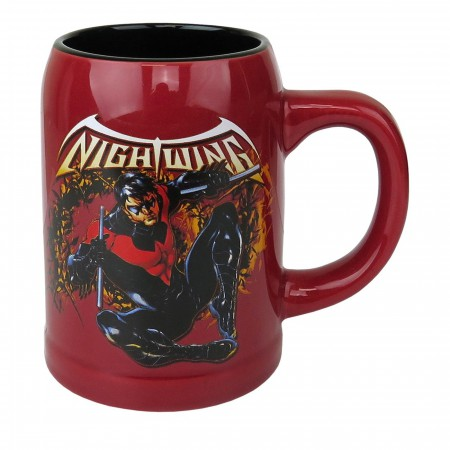 Nightwing 22oz Ceramic Stein Mug