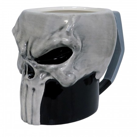 Punisher Sculpted Skull 13oz Ceramic Mug