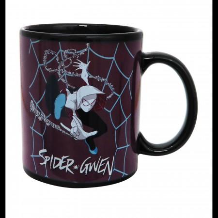 Spider-Gwen Swing Heat Changing Mug