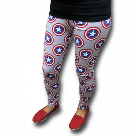 Captain America Shield Yoga Pants