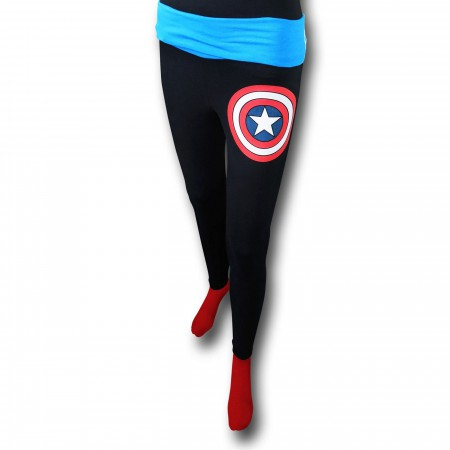 Captain America Shield Women's Yoga Pants