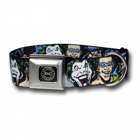 Batman Villains Seatbelt Dog Collar
