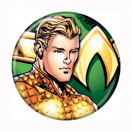 Aquaman Headshot New 52 Button