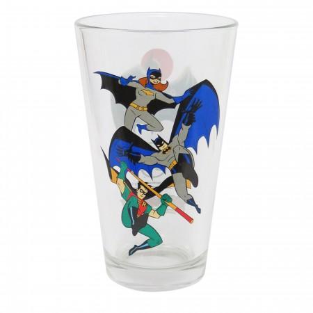 Batman Animated Bat-Family Pint Glass