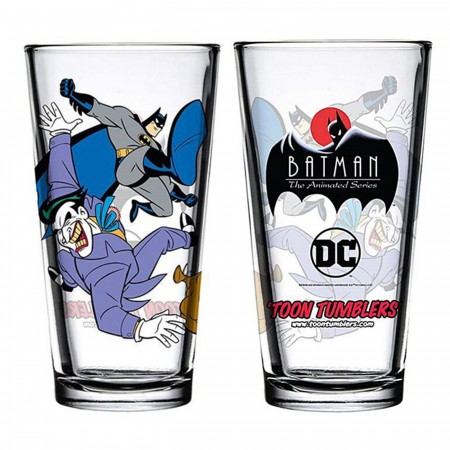 Batman and Joker Animated Series Pint Glass