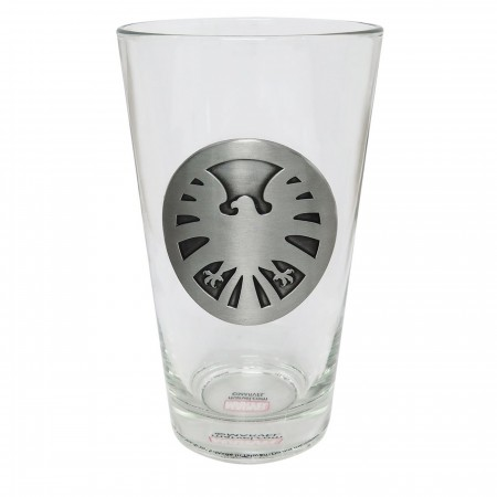 SHIELD Metal Logo Pint Glass