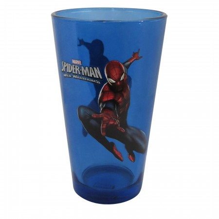Spider-Man Leap Blue Pint Glass