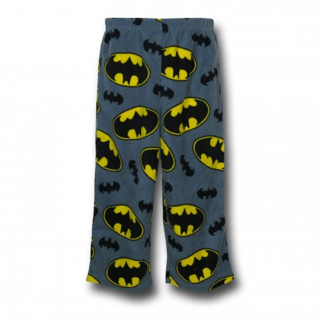 Batman Costume Top Kids Fleece Pajama Set