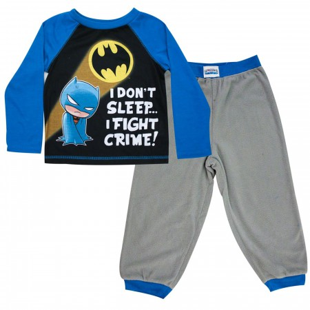 Batman I Fight Crime Toddler Jogger Sleep Set