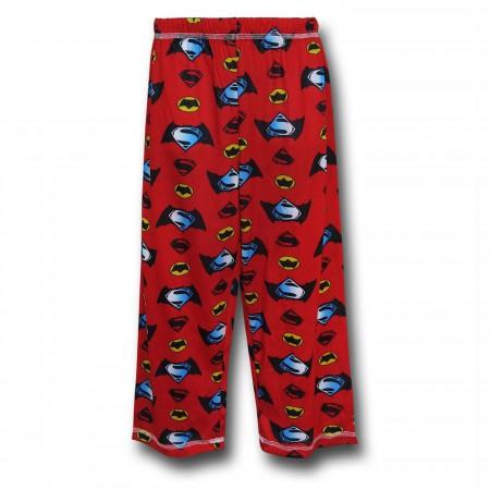 Batman Vs Superman Kids Red Pajama Set