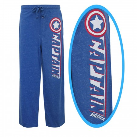 Captain America Snow Heather Blue Pajama Pants
