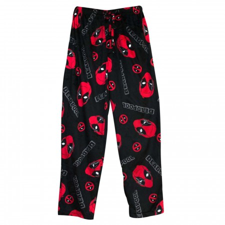 Deadpool Slash & Holes Men's Fleece Pajama Pants