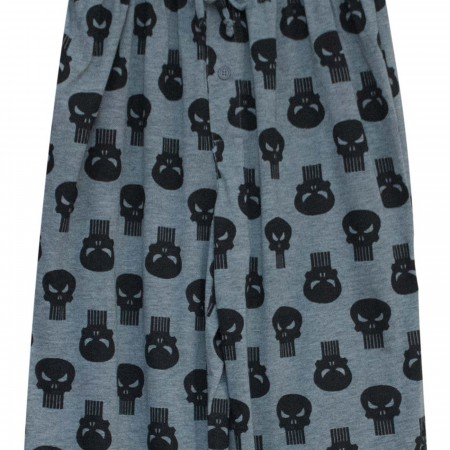 Punisher Logo Repeat Men's Pajama Pants