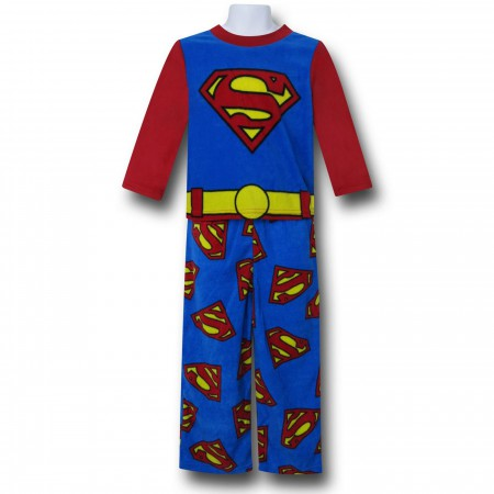 Superman Belt & Symbols Kids 2-Piece Pajama Set