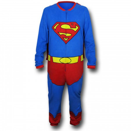 Superman Belted & Caped Union Suit