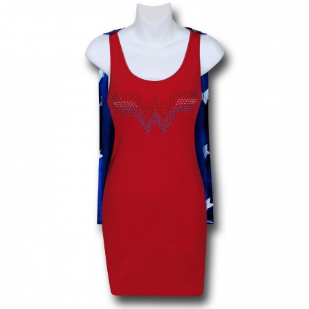 Wonder Woman Women's Caped Sleep Tank Dress