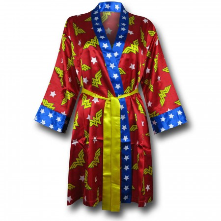 Wonder Woman Women's Silky Printed Robe
