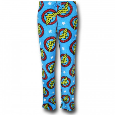 Wonder Woman Symbol Poly Fleece Lounge Pants