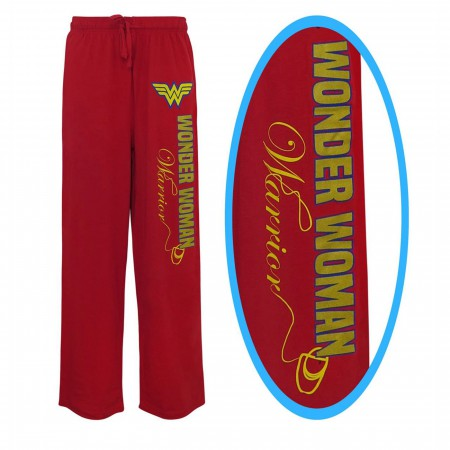 Wonder Woman Foil Logo Unisex Pajama Pants