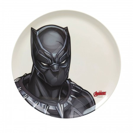 Black Panther T'Challa 10-Inch Plastic Dinner Plate