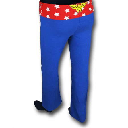Wonder Woman Women's Blue Yoga Pants