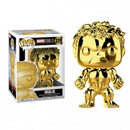 Marvel Studios 10th Anniv Hulk Funko Gold Chrome Pop Bobble Head