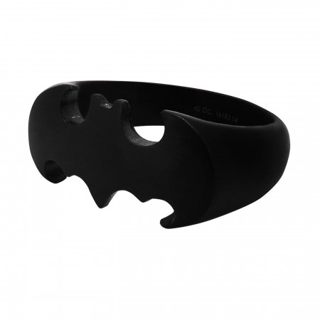 Batman Die-Cut Black Stainless Steel Ring