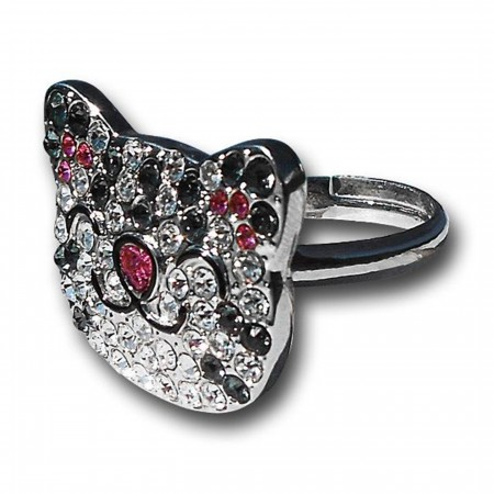 Big Bang Theory Soft Kitty Rhinestone Ring
