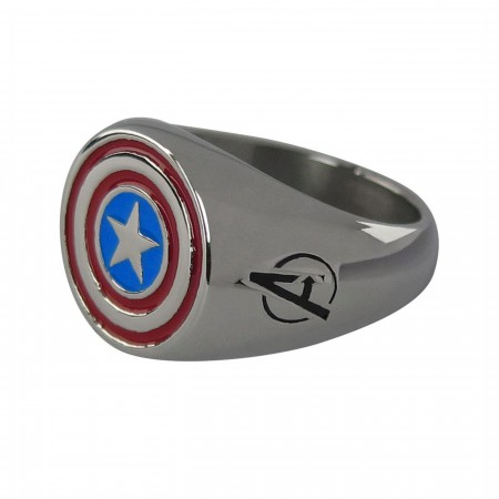 Captain America Shield Stainless Steel Plated Ring