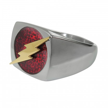 Flash Symbol Stainless Steel Ring